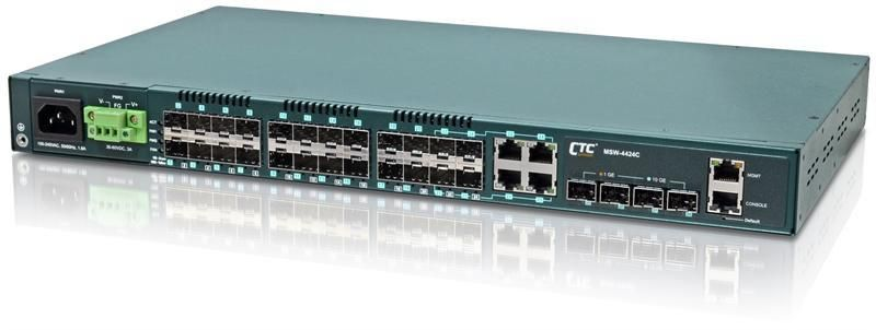 MSW-4424C - Gigabit Ethernet 24 SFP ports with 4 10G SFP+