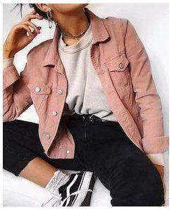 Photo of pink corduroy jacket