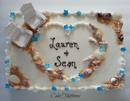 Beach Wedding Sheet Cakes Sheet Cake Wedding Cake By