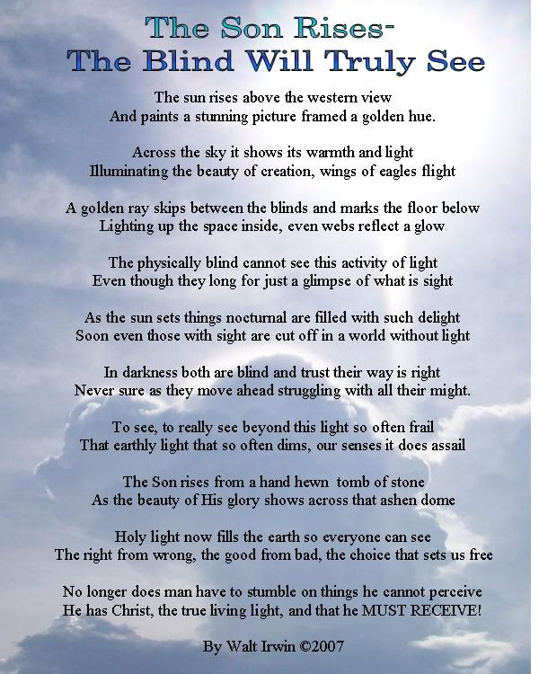 Easter Poem. The Son Rises | Poems | Pinterest | Poem and ...