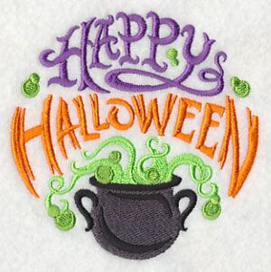 Happy Halloween and Bubbling Cauldron