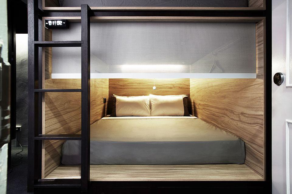 The Pod Hotel Singapore 10 Bed Lattenbodems Moderne Bedden