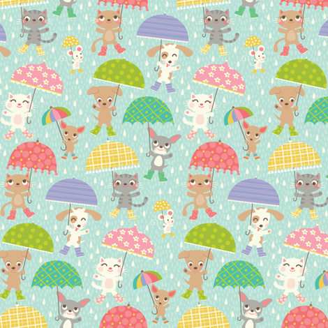 Umbrellas fabric by laura_mayes on Spoonflower - custom fabric