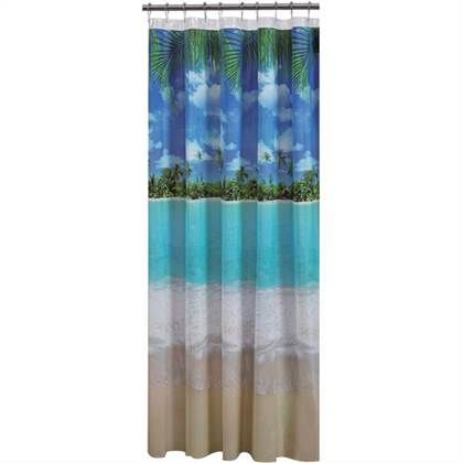 Mainstays Photoreal Beach PEVA Shower Curtain Walmart 11