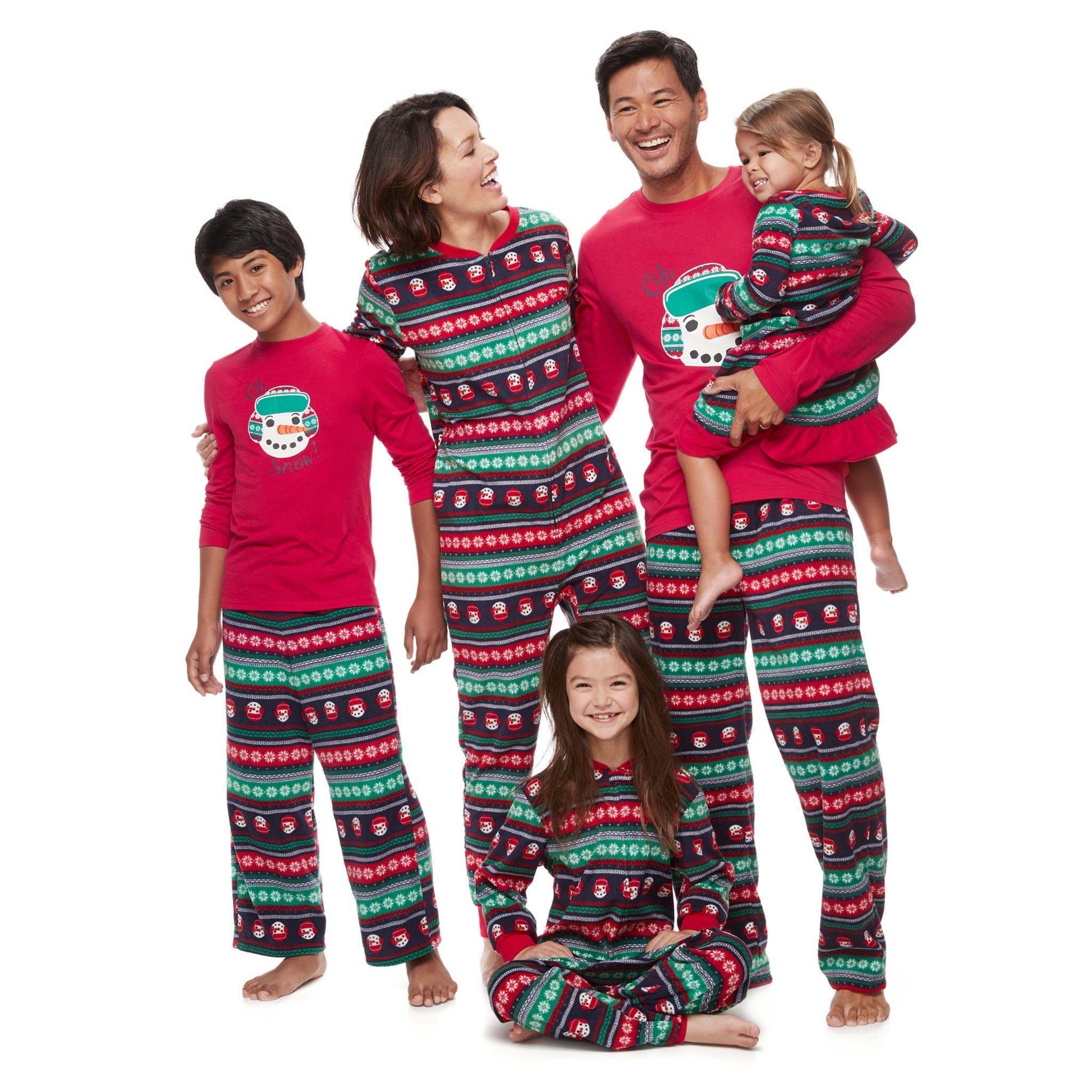 Jammies For Your Families Snowman Fairisle Pajamas