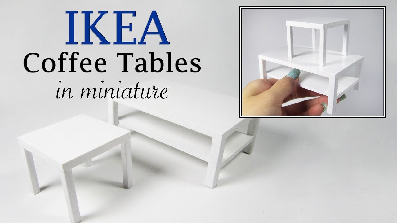DIY Miniature- IKEA Coffee Tables Tutorial