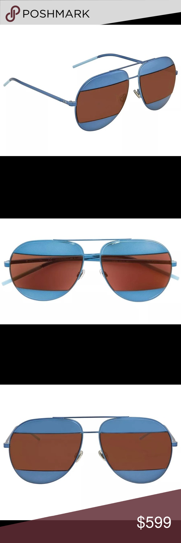 f7cf09333bcc New Christian Dior Split 1 S Sunglasses - Blue NEW CHRISTIAN DIOR SPLIT 1  0Y4E (RD) BLUE AUTHENTIC SUNGLASSES Dior is made using cutting-edge  materials