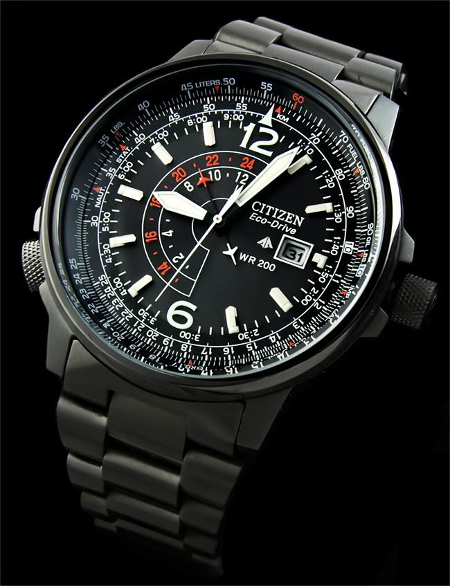 Citizen Promaster Eco Drive Nighthawk Smarty S Board Watches In