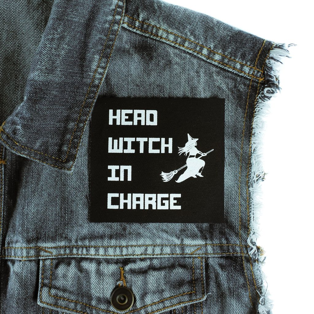 Head Witch In Charge Canvas Patch - Patches - goth clothing - witchworldwide  - 1