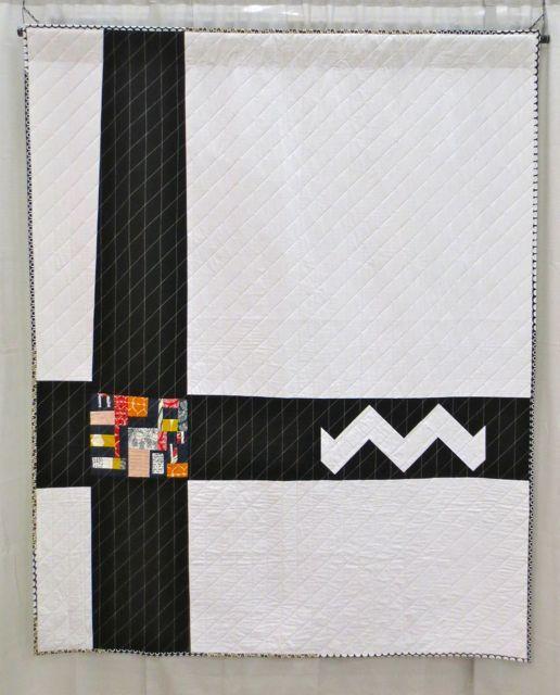 Katrina Hertzer - Natani Blanket, machine quilted (QuiltCon 2013, category: Improvisation, Large)