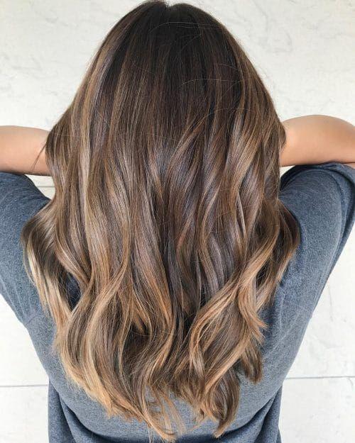 Caramel Beige Blonde Hairstyle Hair Styles Chocolate Brown Hair Color Coffee Brown Hair