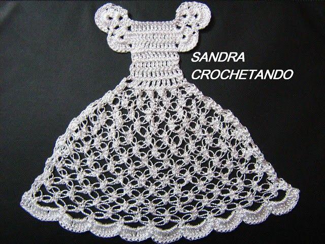 Pano De Prato Boneca Com Vestidinho De Croche Pap Com Imagens