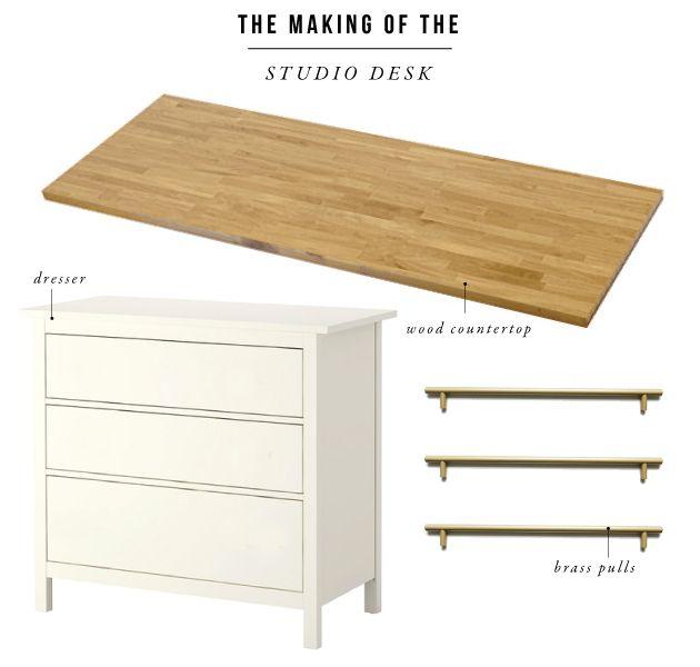 An Ikea Hack Worth Repeating The Studio Desks Jones Design Company Ikea Desk Hack Ikea Desk Desk Hacks