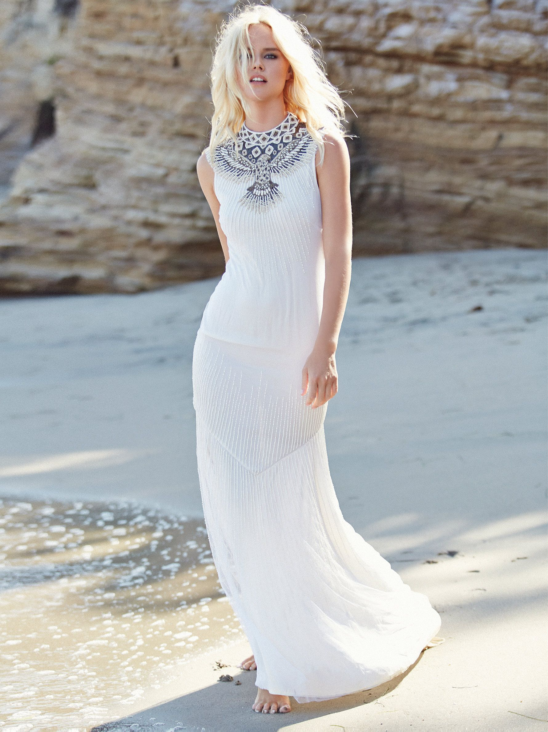 Free wedding dress  Haute Hippie Embellished Mermaid Gown at Free People Clothing