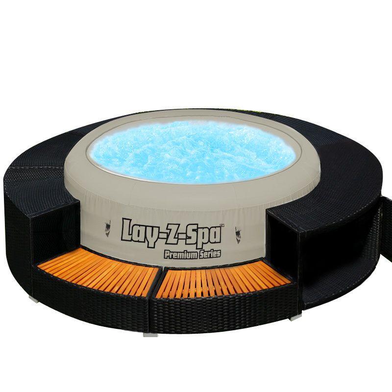 XXL Jacuzzi Whirlpool Umrandung Polyrattan Pool Rahmen Poolumrandung  Verkleidung