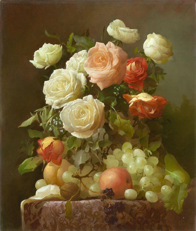 натюрморты с розами масло фото кровати, удобней всего
