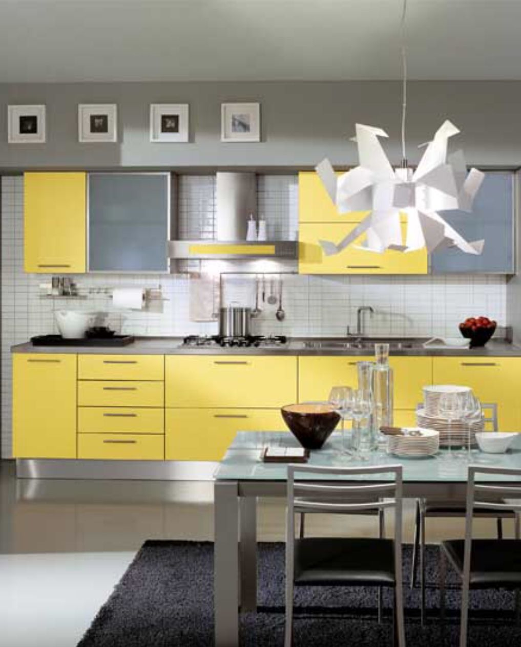 Pin By Carmen Laura On Product Design With Images Yellow Kitchen Decor Yellow Kitchen Cabinets Grey Kitchen
