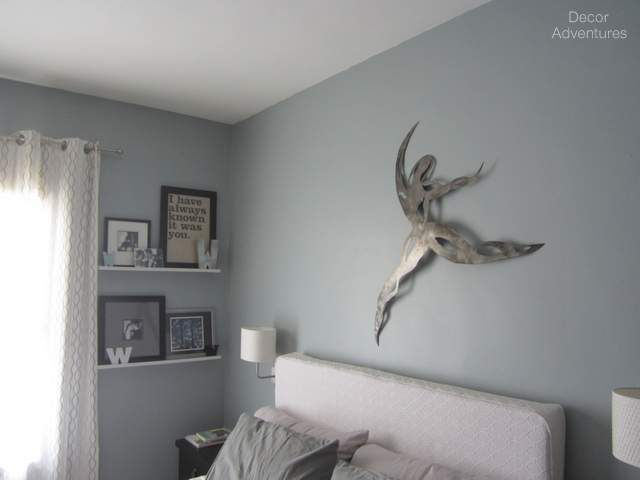 Master Bedroom Before Blue Grey Called Flint Smoke By Behr