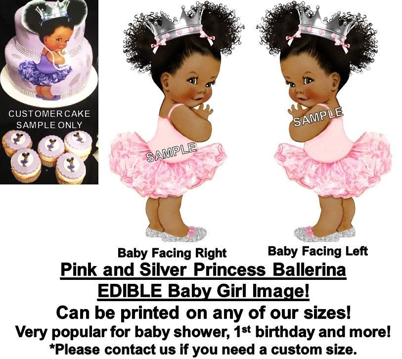 Baking Accs. & Cake Decorating Home & Garden Pre-cut Pink And Maroon Ballerina Baby Edible Cake Topper Gold Slippers Baby Clients First