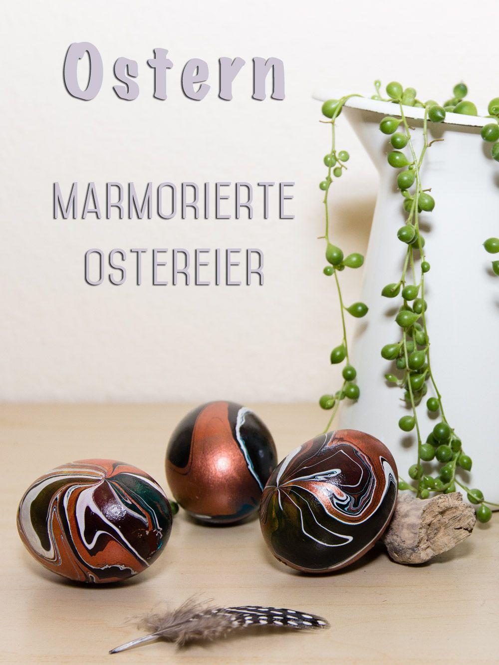 ostereier bemalen ausgeblasene eier marmorieren ostern pinterest marmorierfarbe. Black Bedroom Furniture Sets. Home Design Ideas