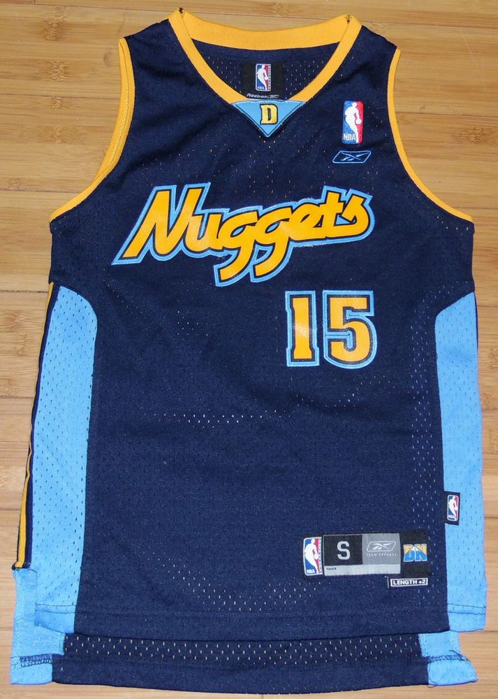 1ddbc17f6a8d1 Denver Nuggets Carmelo Anthony NBA Retro Youth Reebok Brand Jersey ...