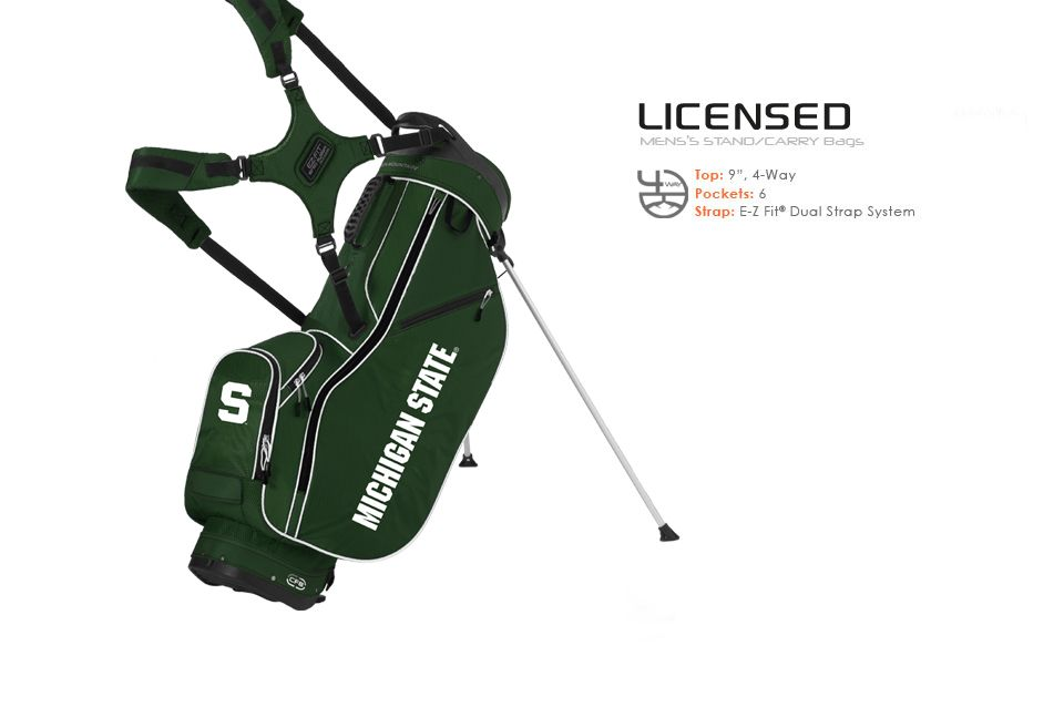 Golf Bags Men S Licensed Collegiate Stand Bag Michigan State University Sun Mountain With College Logo