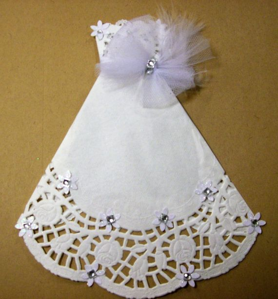 White Paper Doily Wedding Gown PDF Embellishment by ljbminis2021 - white paper pdf