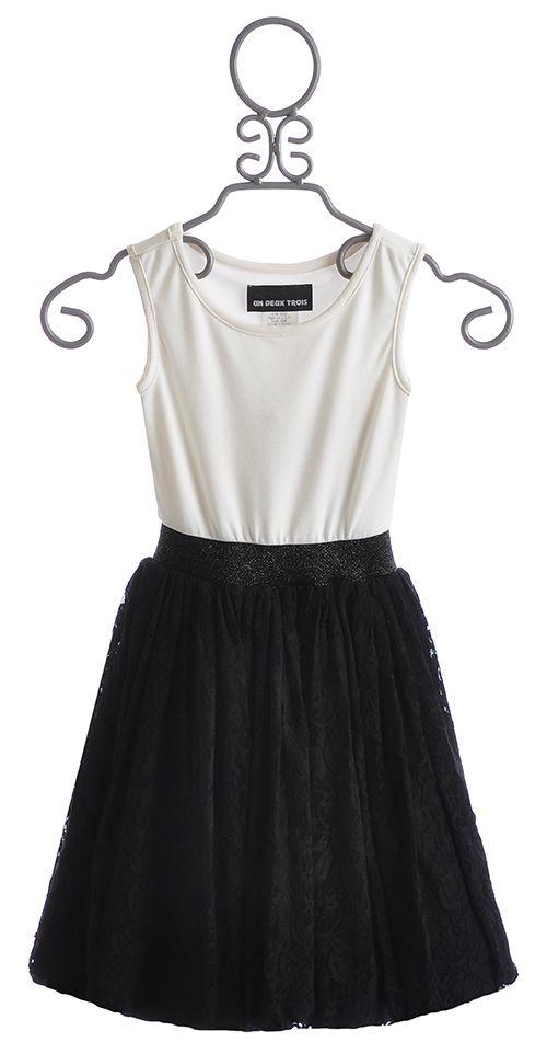 fb7a8a61f Un Deux Trois Tween Party Dress with Lace Skirt | Christmas Dresses ...
