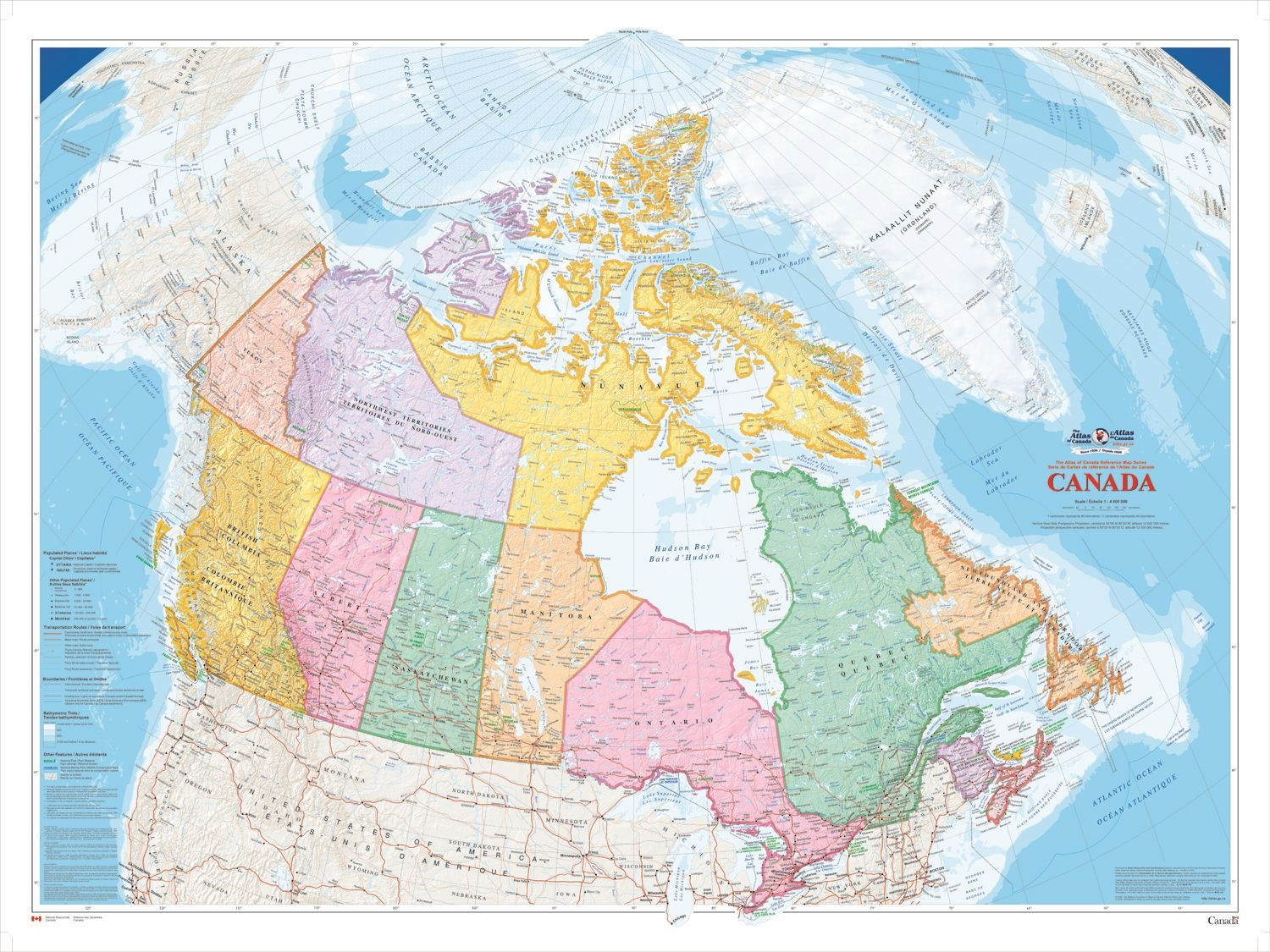 Map 0f Canada.Canada Political Natural Resources Wall Map Xl The Largest Of The
