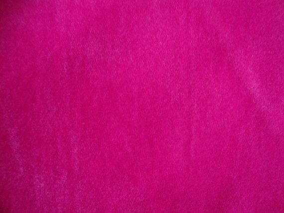 Vintage 60s Hot Pink Velvet Mod Fabric Mid By Cutebrightfun