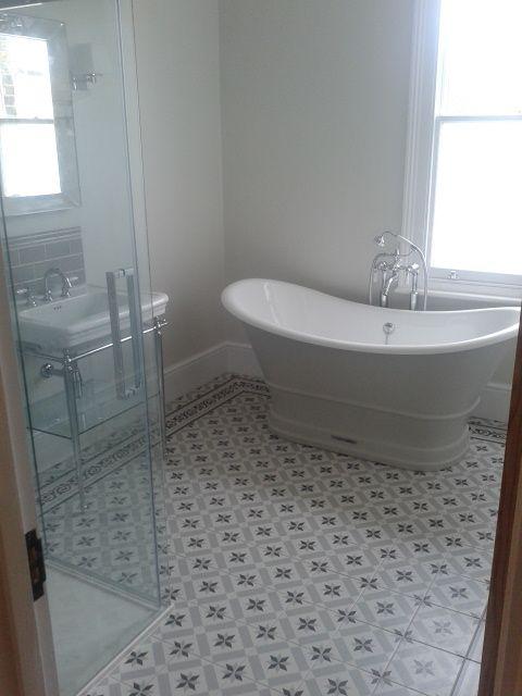 Moore And Moore Interior Craftsmen Bathrooms Remodel Traditional Bathroom Bathroom Floor Tiles