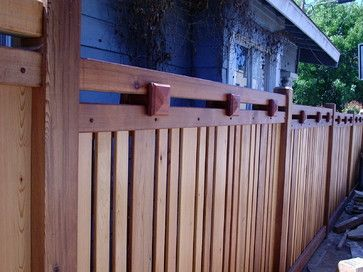 Craftsman Style Fence Design Ideas Pictures Remodel And Decor Fence Design Wood Fence Design Craftsman Exterior