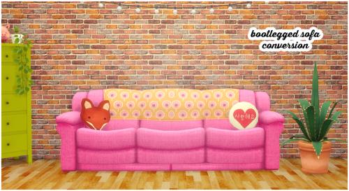 Sims 2 \'Bootlegged sofa\' conversion TS2-TS4I never noticed this sofa ...