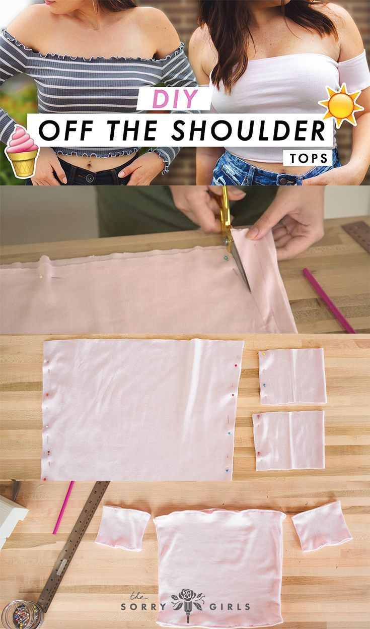 DIY TIGHT OFF THE SHOULDER TOP #diyclothes