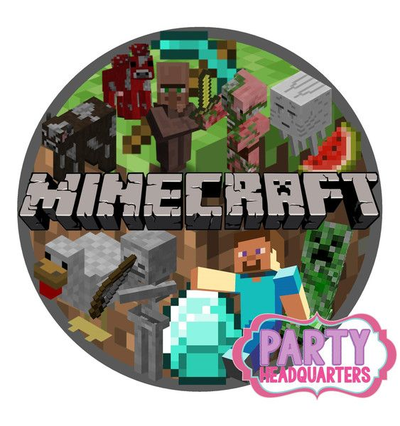 Minecraft Cake Topper Icing Round 7 Quot Steve Creeper