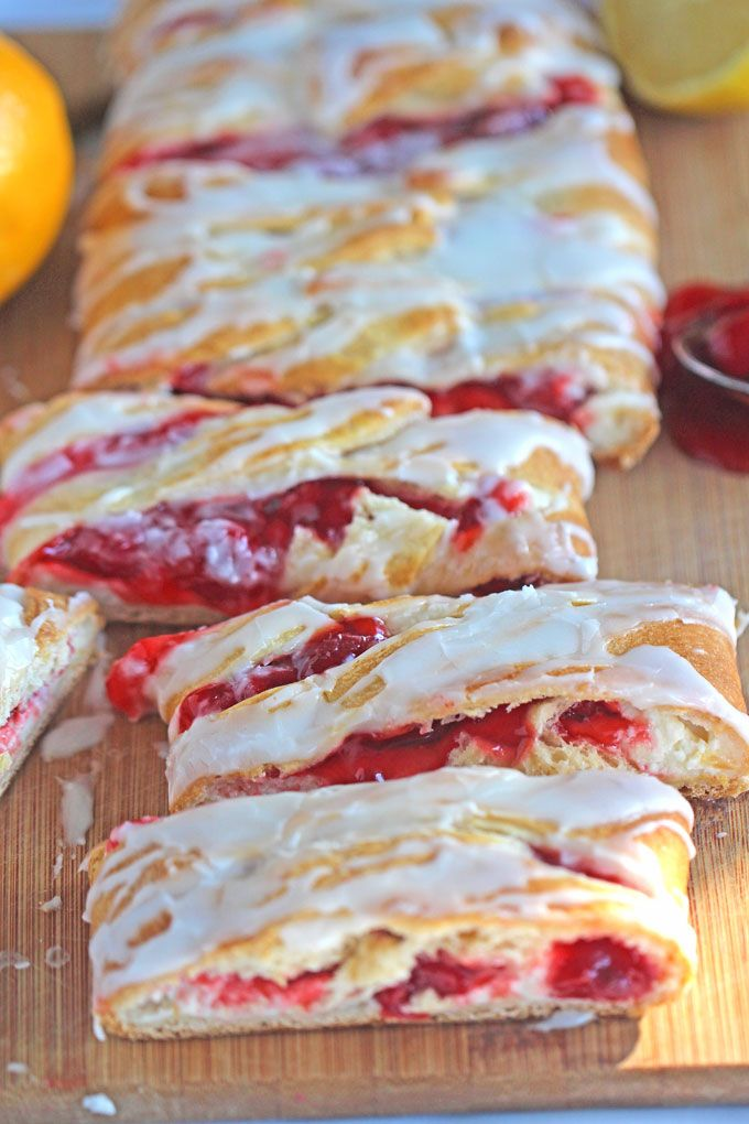 Lemon Cheery Cheese Danish Recipe is very easy to make with puff pastry, ready in 30 minutes, with delicious lemon and cherry flavors!