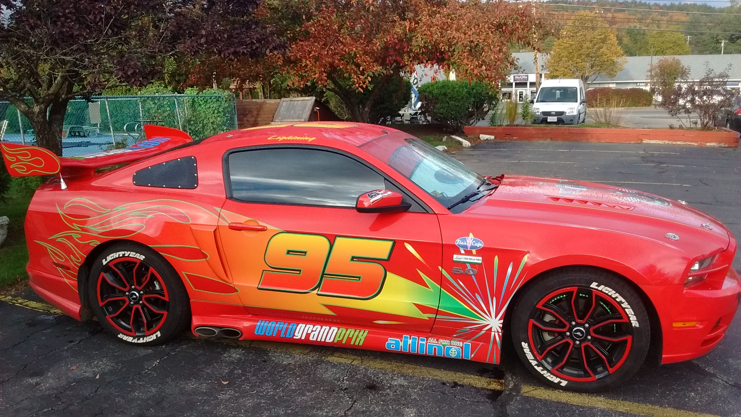 Mustang Pimped Out To Look Like Lightning Mcqueen From Cars