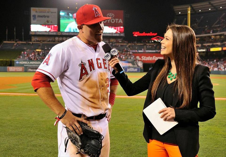 Mike Trout being interviewed by the lovely Alex Curry at