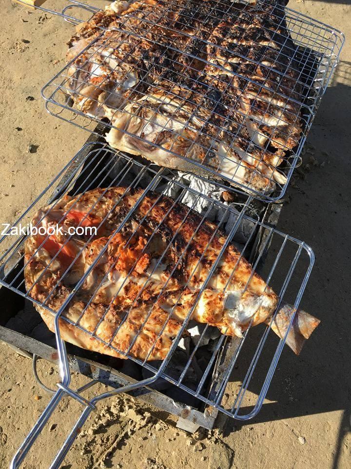 سمك مشوي على الفحم مع تتبيلة خطيرة Arabian Food Cooking Recipes Traditional Food
