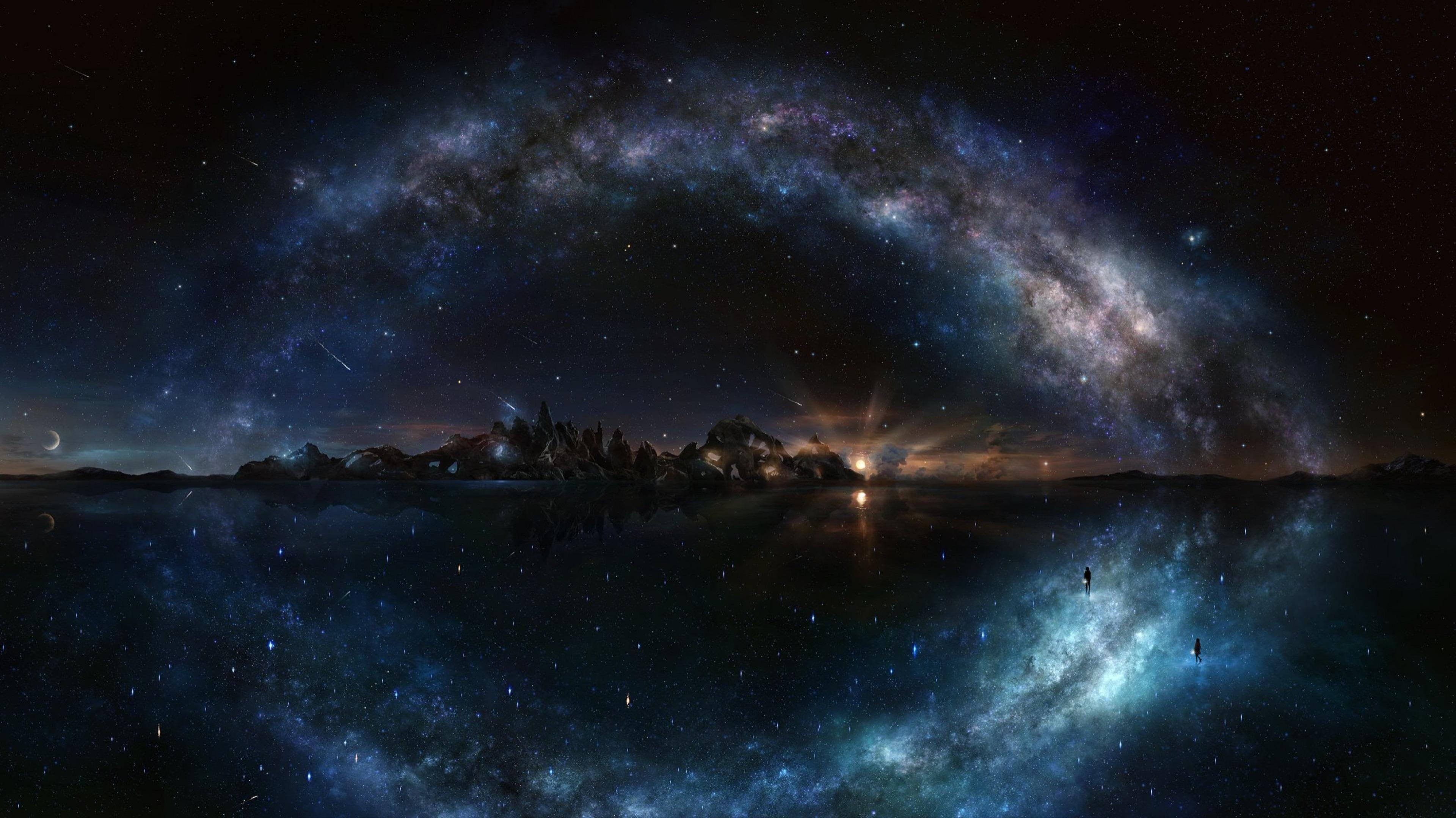 Galaxy Sky 4k Google Search Night Sky Wallpaper Night Skies Sky