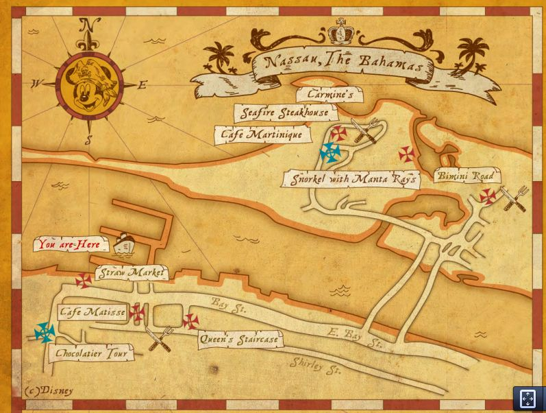 Disney Dream Map on