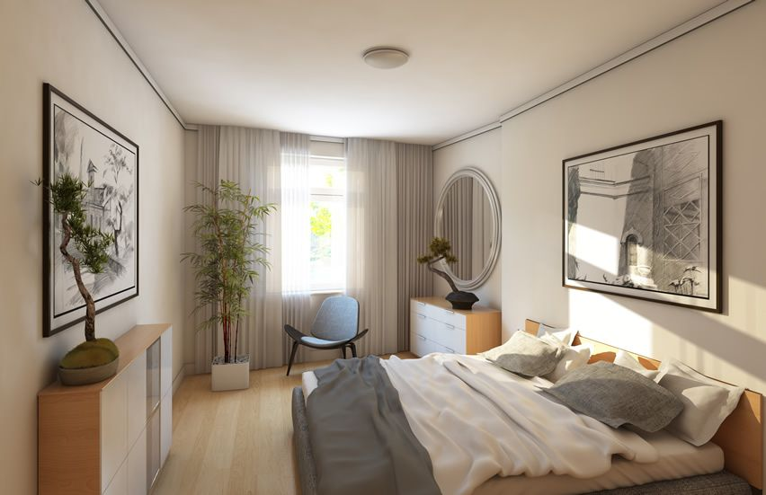 67 Stylish Modern Small Bedroom Ideas White Wall Bedroom Bedroom Wall Colors Unique Bedroom Ideas