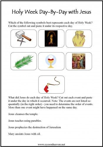 A Simple Activity To Help Your Kids Live Holy Week More Intentionally And Learn What Happened Each Day Religieuse