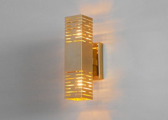Lighting. Wall sconce. Gold lamp. Brass wall sconce ...