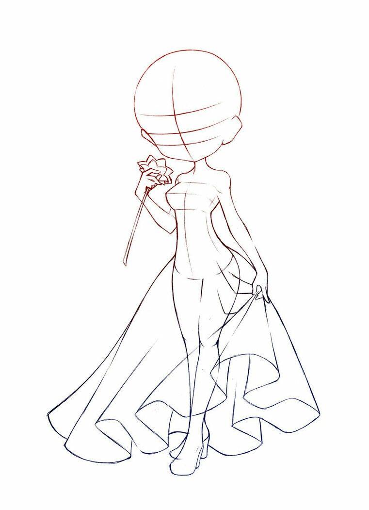 Anime Girl Base Sketch : anime, sketch, Usagi_Rin, Anime, Drawings, Tutorials,, Drawing, Base,