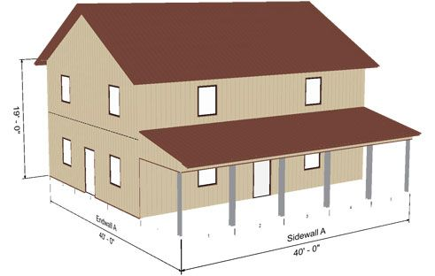 abss-gable-57 - steel building model - ameribuilt steel structures