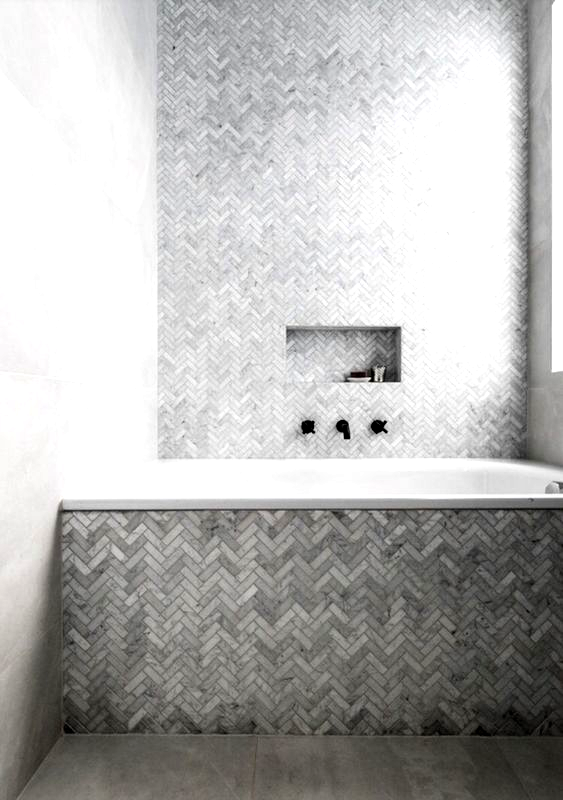 Herringbone Tiling Herringbone Bathroom Tiling Grey Marble Feature Tile Feature Bathroom Fea In 2020 Herringbone Tile Bathroom Bathroom Feature Wall Tile Bathroom