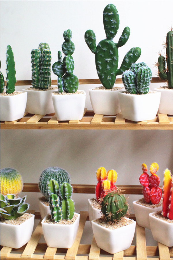 Artificial Cactus Home Decoration In 2020 Fake Plants Decor Fake Cactus Artificial Succulents