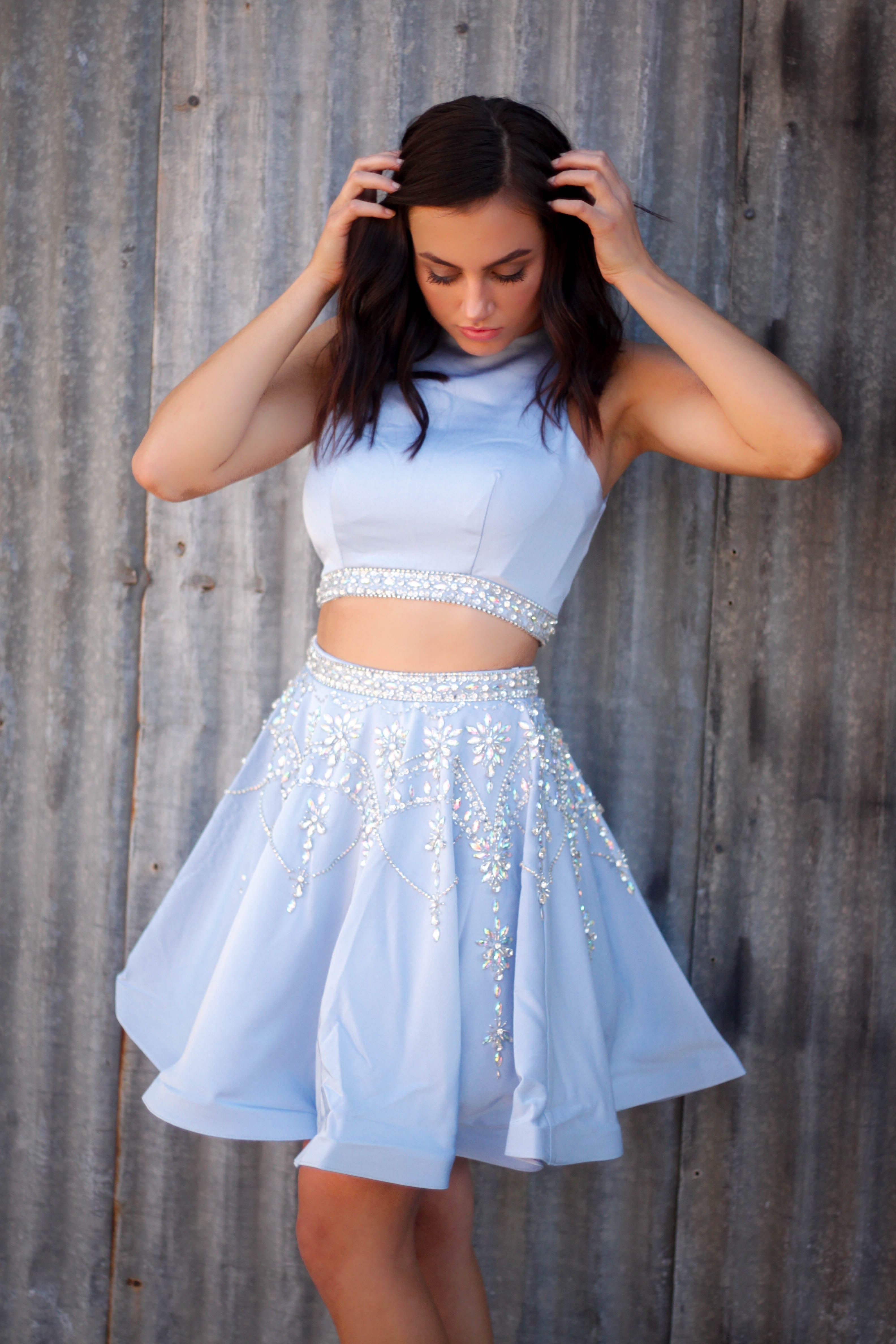 Pin By Jaymeepperson On Dresses Blue Dress Short Light Blue Dress Short Piece Prom Dress [ 4752 x 3168 Pixel ]
