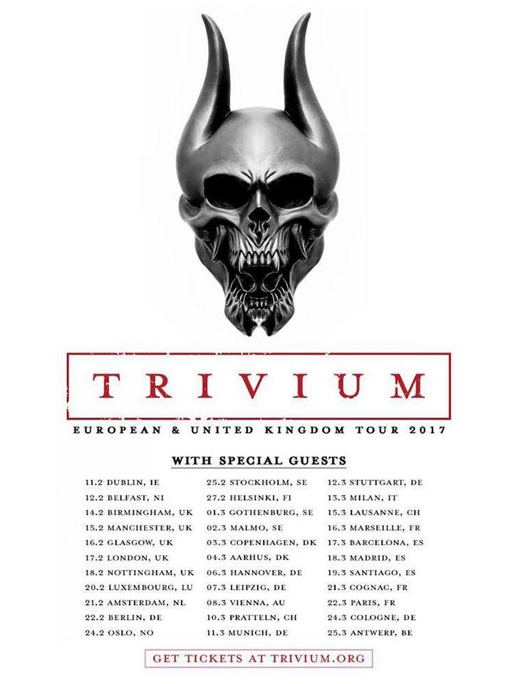 Trivium European & UK Tour 2017 | Trivium | SikTh | SHVPES